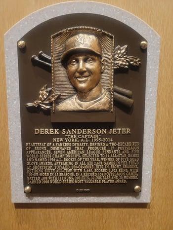 Derek Jeter HOF Plaque