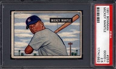 1951 Bowman Mickey Mantle PSA Rookie Card