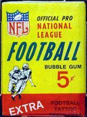 1964 Philadelphia Football Wax Pack