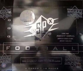 2000 Upper Deck SPx Football Wax Box