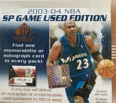 2003 Upper Deck Game Used Basketball Wax Box