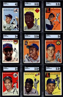 1954 Topps Baseball Set with Hank Aaron, Ernie Banks, Willie Mays