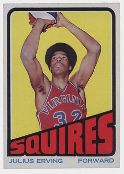 1972 Topps Julius Erving Rookie Card