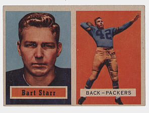 1957 Topps Bart Starr Rookie