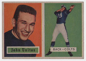 1957 Topps Johnny Unitas Rookie