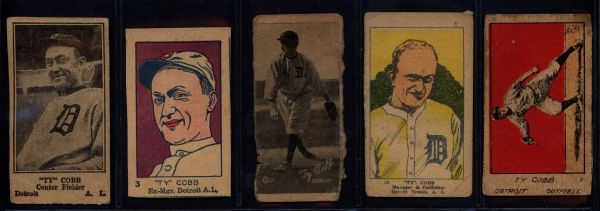 Ty Cobb Strip Cards