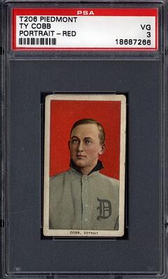 T206 Ty Cobb Red background