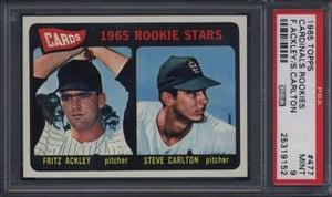 1965 Topps Steve Carlton PSA 9