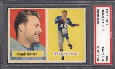 1957 Topps PSA 8 Frank Gifford