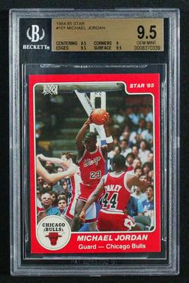 1984 Star Basketball #101 Michael Jordan Rookie Card BGS 9.5