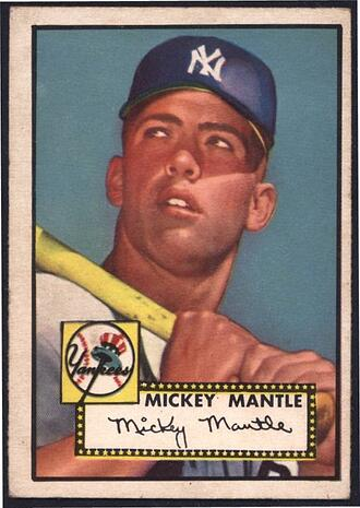 1952 Topps #311 Mickey Mantle