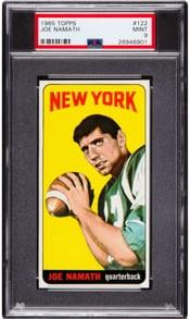 1965 Topps #122 Joe Namath PSA 9 rookie card