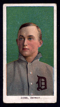 1909-11 T206 Ty Cobb Green Background