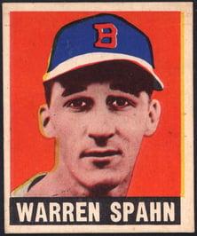 1948 Leaf Warren Spahn