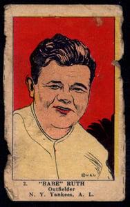 1923 W515-1 #3 Babe Ruth