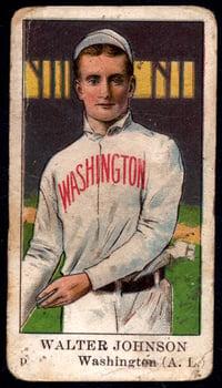 1910 E91 Set C Walter Johnson