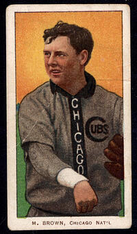 1909-1911 T206 Mordecai Brown Pitching Chicago
