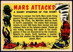 1962 Topps Mars Attacks! Checklist