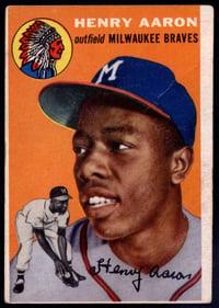 1954 Topps #128 Hank Aaron