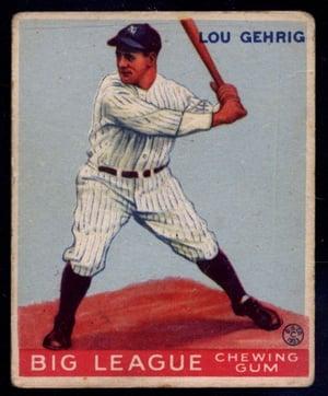 1933 Goudey Lou Gehrig