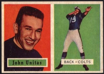 1957 Topps Johnny Unitas