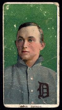 1909-11 T206 Ty Cobb Gren background
