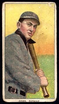 1909-11 T206 Ty Cobb Bat on Shoulder