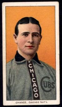 1909-1911 T206 Frank Chance Portrait Yellow Background