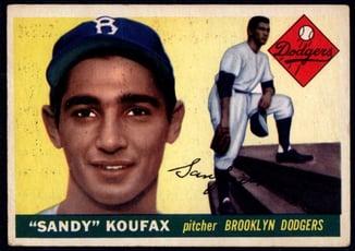 1955 Topps #123 Sandy Koufax Rookie Card