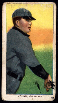 1909-11 T206 Cy Young Bare Hand Shows