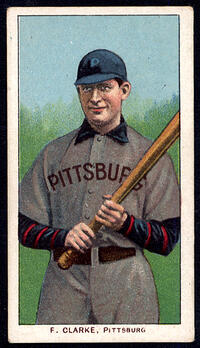 1909-1911 T206 Fred Clarke with Bat