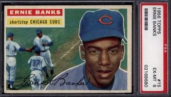 1956 Topps #15 Ernie banks