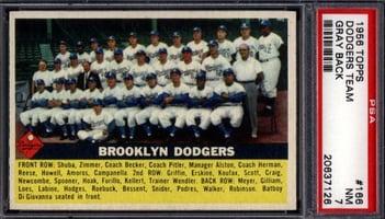 1956 Topps Brooklyn Dodgers