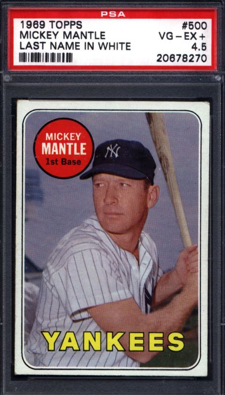 1969 Topps Mickey Mantle