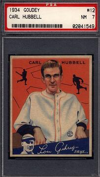 1934 Goudey Carl Hubbell