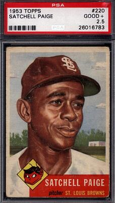 1953 Topps #220 Satchel Paige