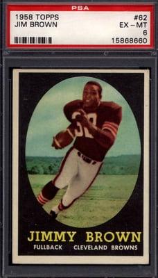 1958 Topps #62 Jim Brown rookie