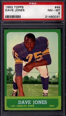 1963 Topps Dave Deacon Jones rookie