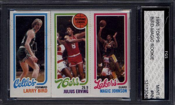 1980 Topps Larry Bird Magic Johnson Rookie Card