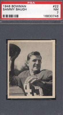 1948 Bowman #22 Sammy Baugh PSA 7