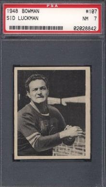 1948 Bowman #107 Sid Luckman