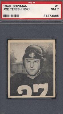 1948 Bowman #1 Joe Tereshinksi PSA 7