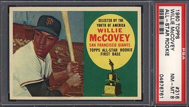 1960 Topps #316 Willie McCovey Rookie PSA 8