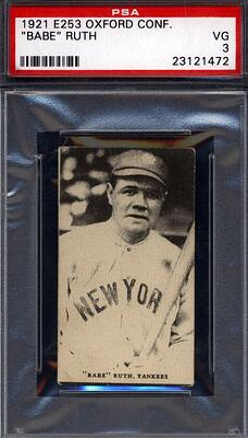 1921 E253 Oxford Confectionery Babe Ruth