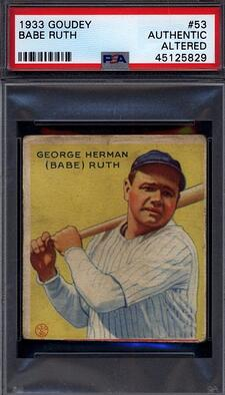 1933 Goudey #53 Babe Ruth