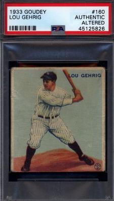 1933 Goudey #160 Lou Gehrig
