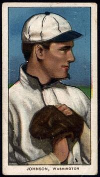 1909-11 T206 Walter Johnson Hands at Chest